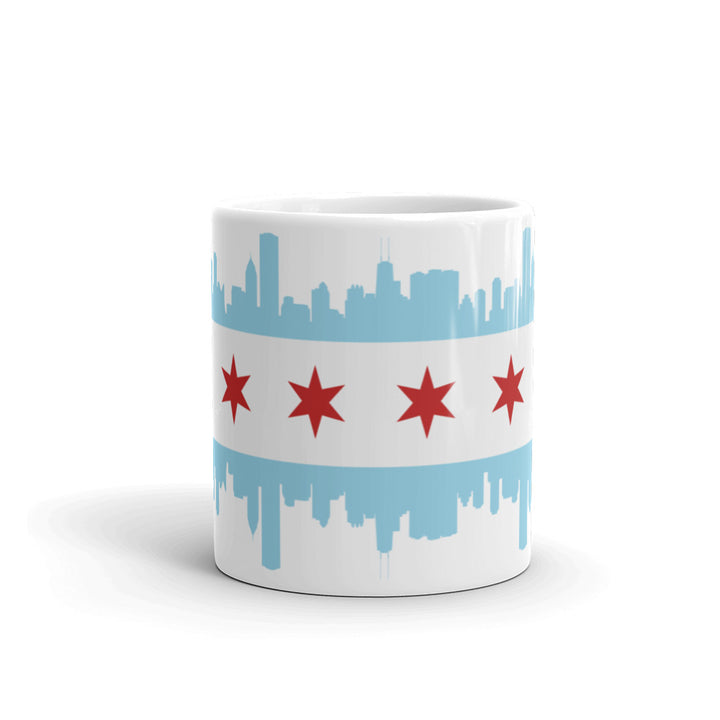 Chicago Mug Flag and Skyline