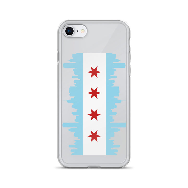 Chicago iPhone Case Flag and Skyline