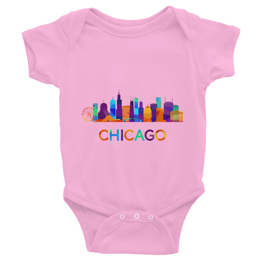 Chicago Baby Bodysuit Colorful Skyline