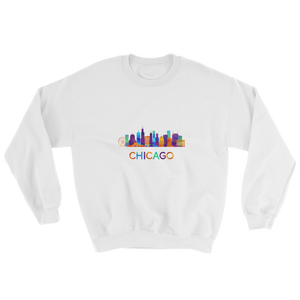 Chicago Sweatshirt Colorful Skyline
