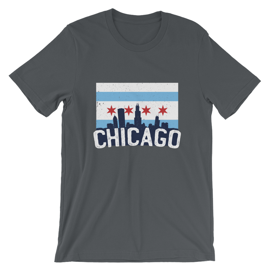 Chicago T-Shirt Iconic Flag