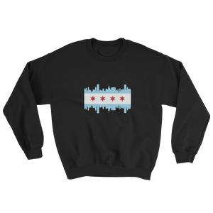 Chicago Sweatshirt Flag and Skyline