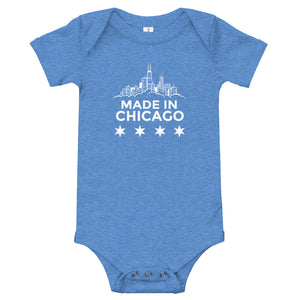 "Baby Onesie ""Made in Chicago"""