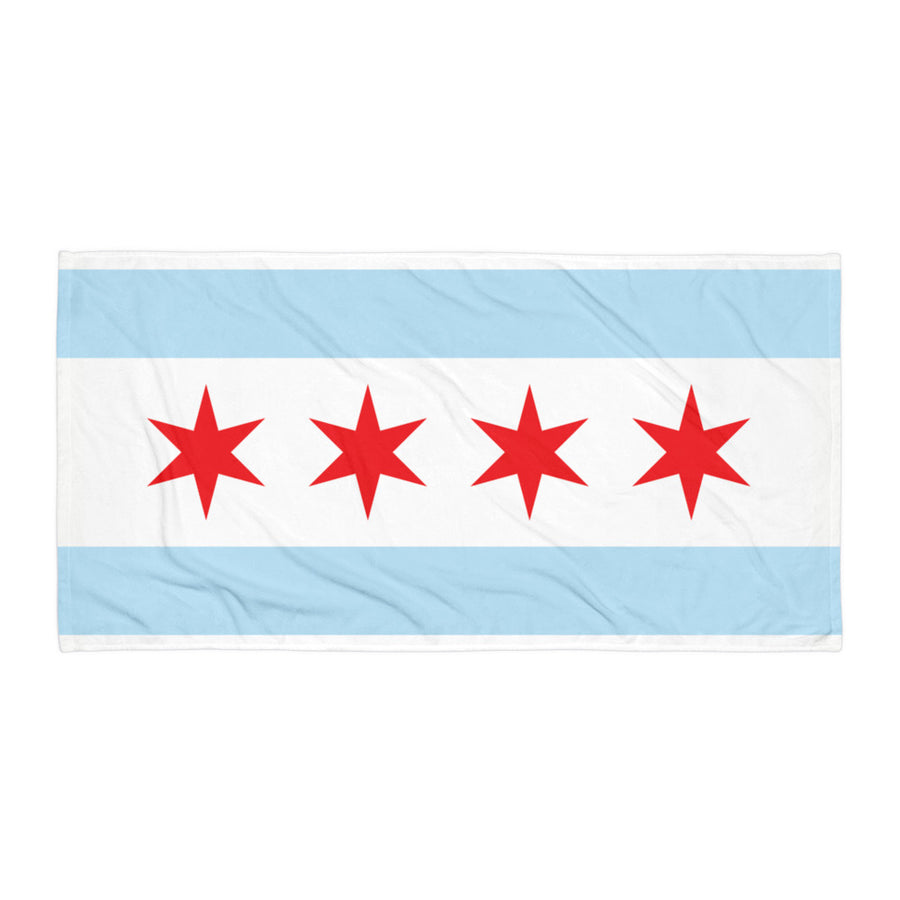 Chicago Towel Flag