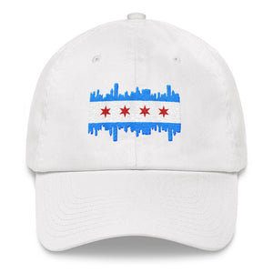 Chicago Cap Flag and Skyline