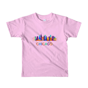 Chicago Kids T-Shirt Colorful Skyline