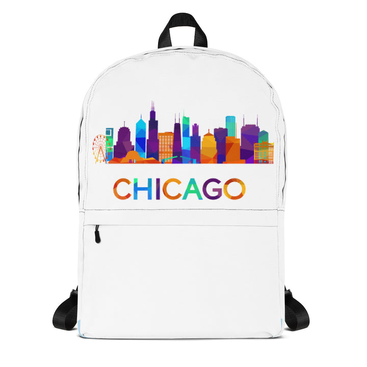 Chicago Backpack Colorful Skyline