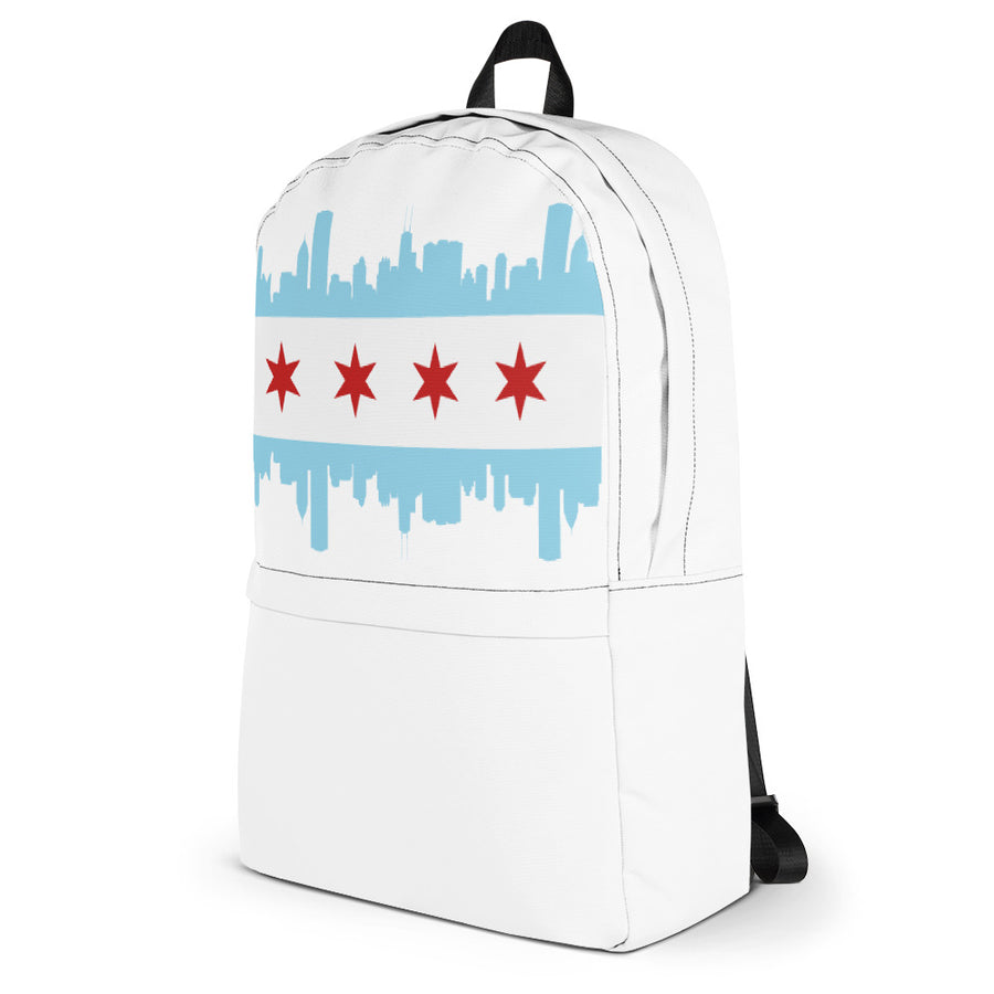 Chicago Backpack Flag and Skyline