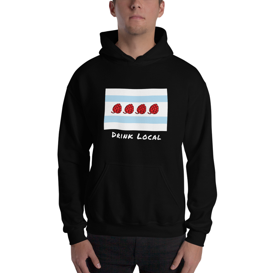Chicago Hoodie Drink Local