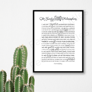 Our Family's Food Philosophies - Downloadable