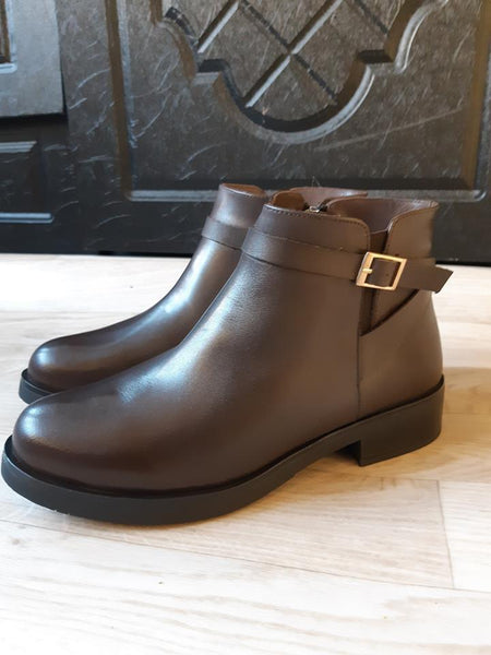 Botte Marron 687 Cuir