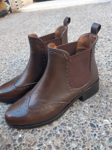 Botte Marron 781 Cuir