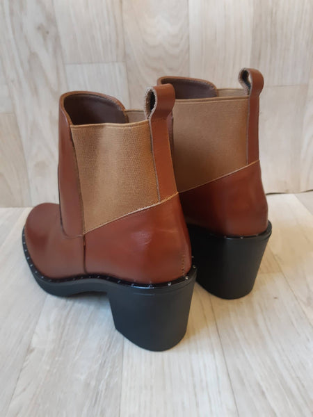 Botte Marron camel 748 Cuir
