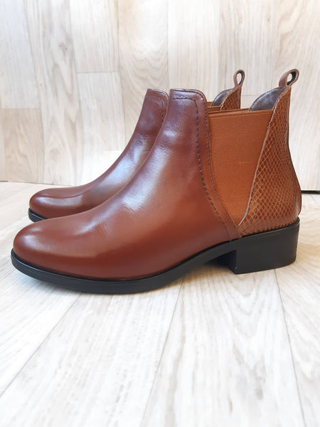 Botte marron camel 764 Cuir