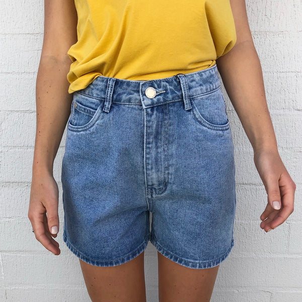 Jessy Short - Mid Blue - rnayclothing, boutique, womens fashion
