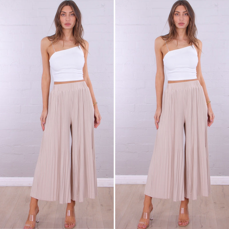 Jessie Culottes - Cream - rnayclothing, boutique, womens fashion