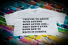 Load image into Gallery viewer, 1995 Cursive Fail T-shirt