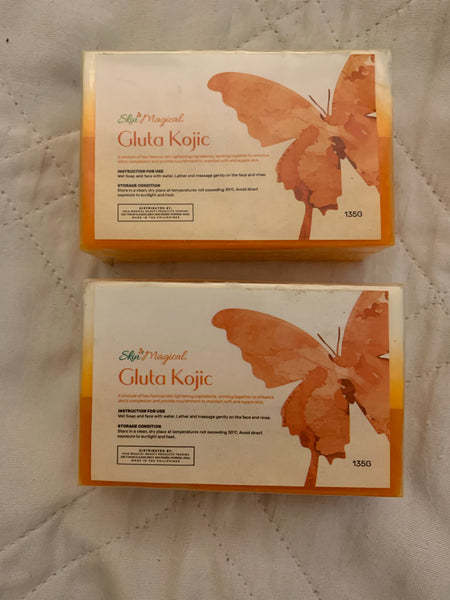 Skin Magical Gluta Kojic Soap 2pcs(135g Each)