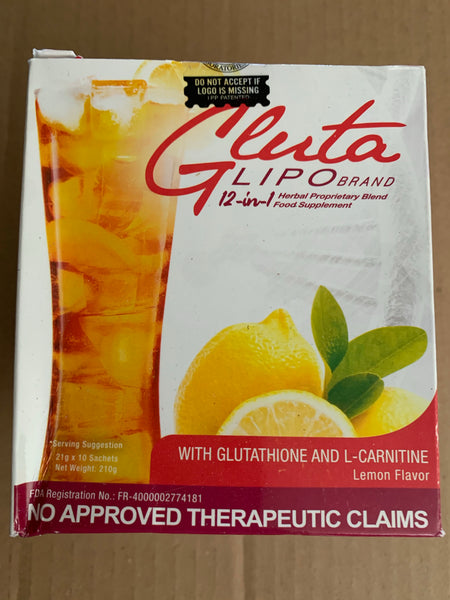 GlutaLipo 12in1 Juice Lemon Flavor 10sachets