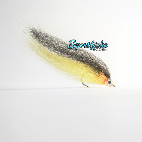 Pike Fly Baitfish - Black Chartreuse