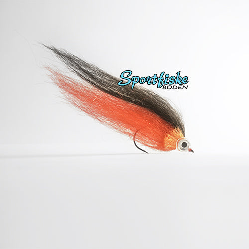 Pike Fly Baitfish - Black Red