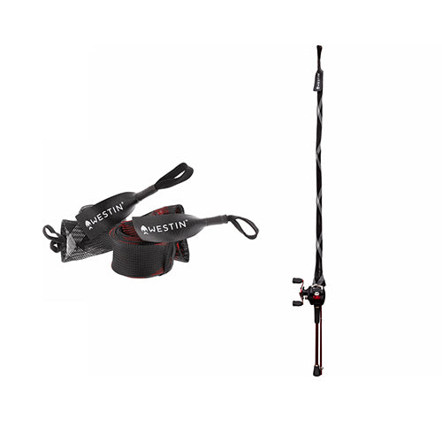 "Rod Cover Spin (up to 8'6""/255cm) - Black/Red - 4cm 80cm"