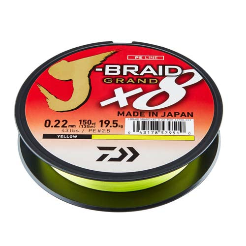 Daiwa J-braid Grand X8 Yellow