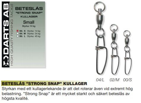 Småplock - Darts Beteslås Strong Snap Kullager