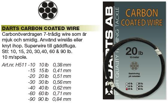 Småplock - Darts Carbon Coated Wire