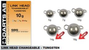 Texas, Carolina & Dropshot - LINK HEAD CHANGEABLE - TUNGSTEN