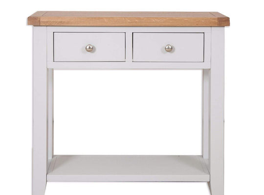 Havana French Grey 2 Drawer Console Table - Inspired Rooms Furniture Superstore