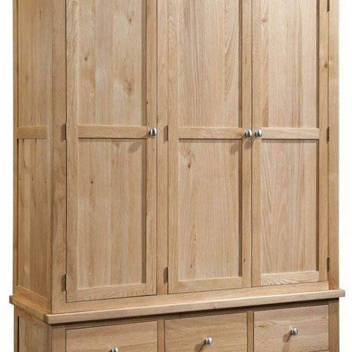 3 Door 3 Drawer Wardrobe - Inspired Rooms