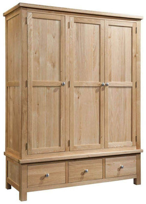 3 Door 3 Drawer Wardrobe