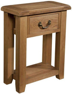 Trafalgar Oak Console Table with 1 Drawer