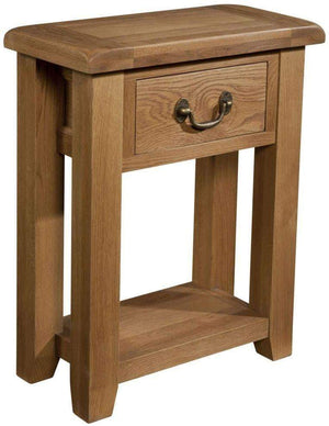Load image into Gallery viewer, Trafalgar Oak Console Table with 1 Drawer - inspired-room.myshopify.com