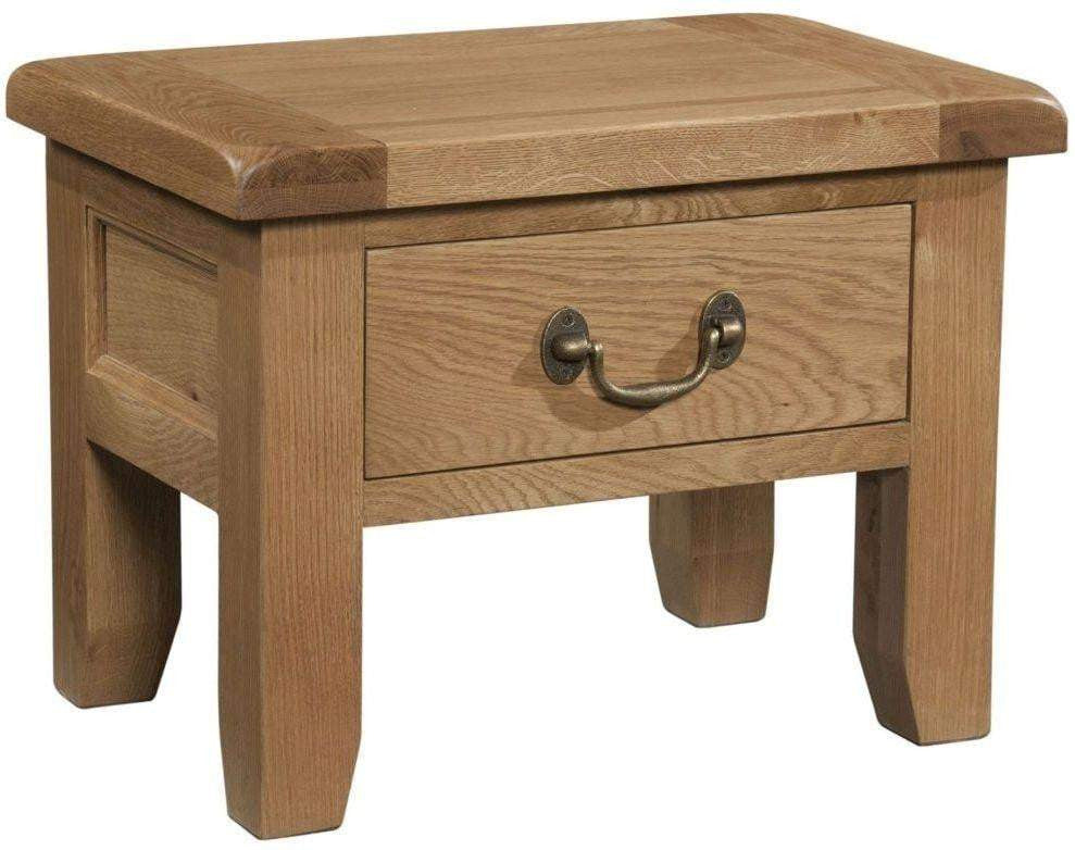 Trafalgar Oak Side Table with Drawer