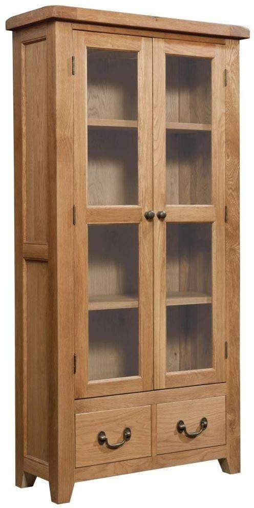 Trafalgar Oak Display Cabinet / Glass Doors