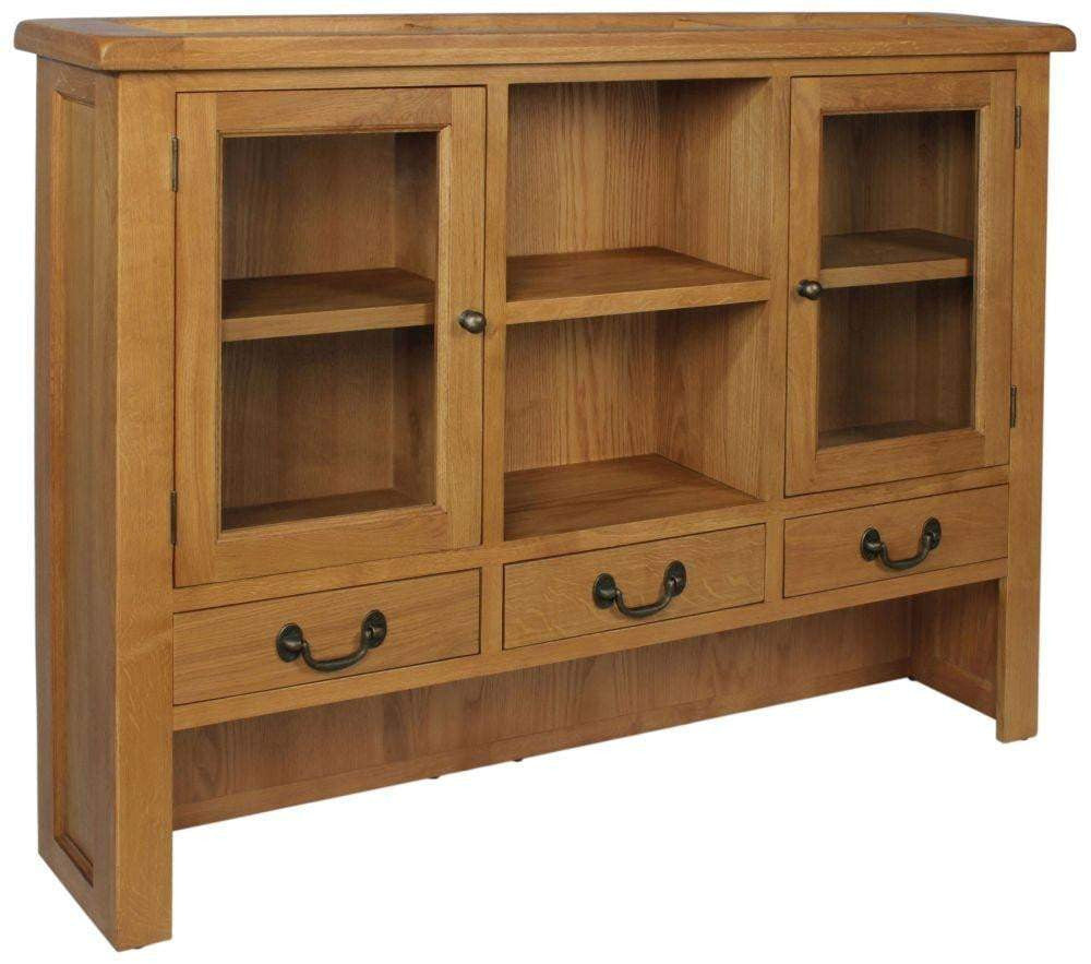 Trafalgar Oak 3 Drawer Large Dresser Top