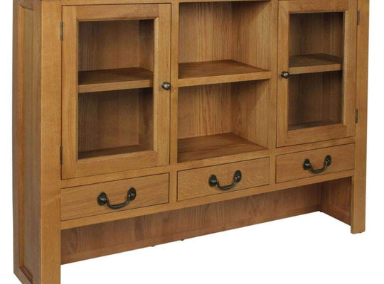 Trafalgar Oak 3 Drawer Large Dresser Top - Inspired Rooms