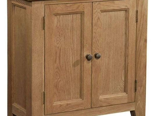 2 Door Cabinet in Trafalgar Oak - Inspired Rooms