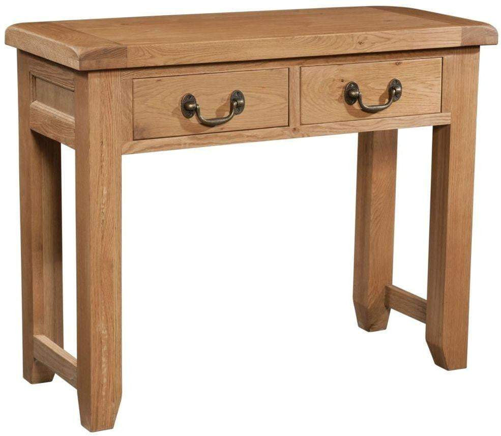 Trafalgar Oak Console Table with 2 Drawers - inspired-room.myshopify.com