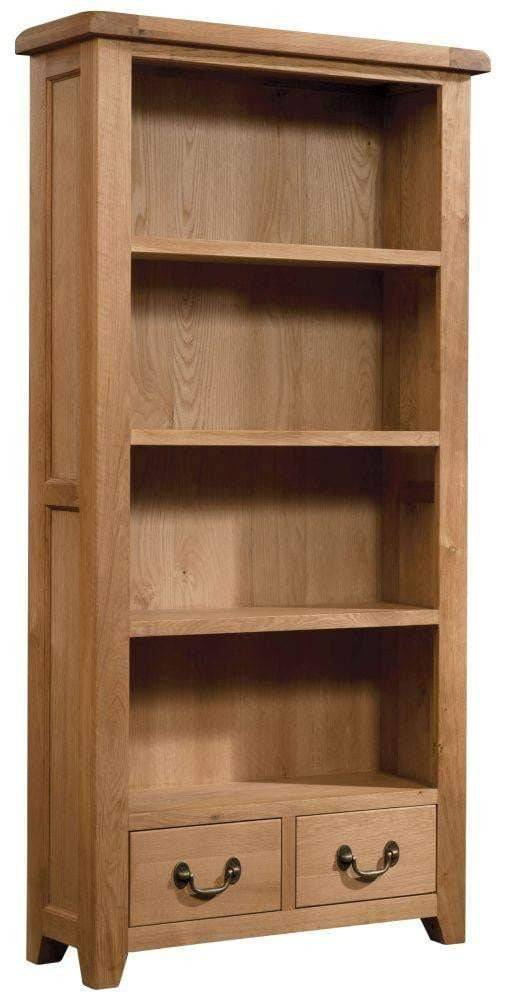 Trafalgar Oak Bookcase 900 x 1800