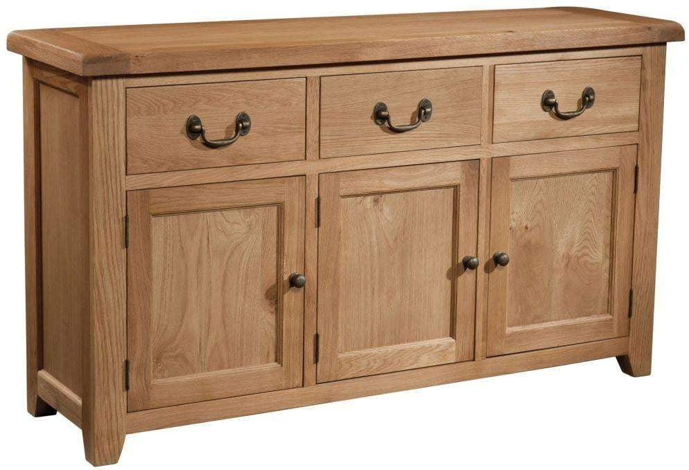Trafalgar Oak 3 drawer Sideboard
