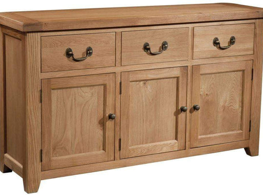 Trafalgar Oak 3 drawer Sideboard - Inspired Rooms