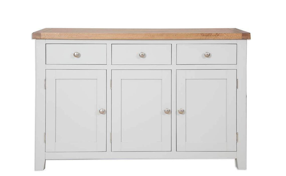 Havana French Grey 3 Door Large Sideboard - Inspired Rooms Furniture Superstore