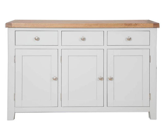 Havana French Grey 3 Door Large Sideboard - Inspired Rooms