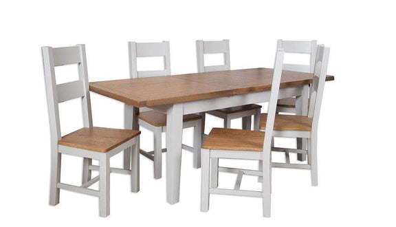 Havana French Grey Extending Dining Table Small 160 cm - inspired-room.myshopify.com