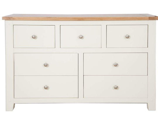 Cream Chest of Drawers, 3 over 4 drawers - inspired-room.myshopify.com