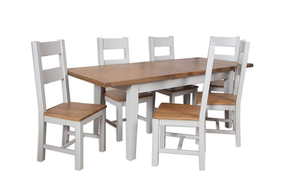 Havana French Grey Extending Dining Table Small 120 cm - inspired-room.myshopify.com