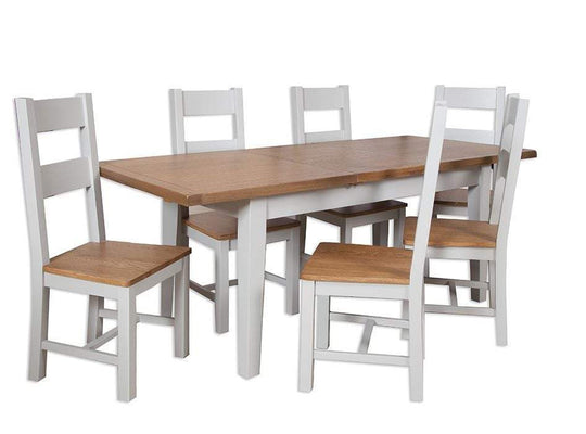 Havana French Grey Extending Dining Table Small 120 cm - Inspired Rooms Furniture Superstore